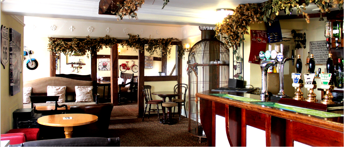 the inn at bromyard bar area